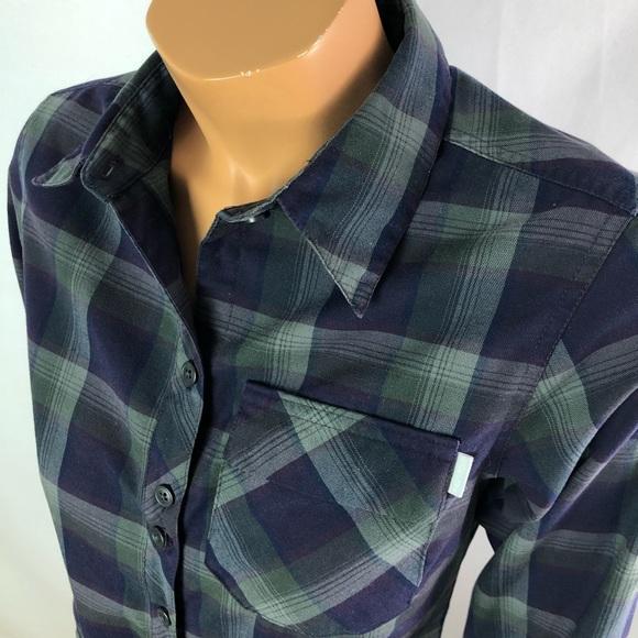 Columbia tartan grey purple long sleeves shirt S